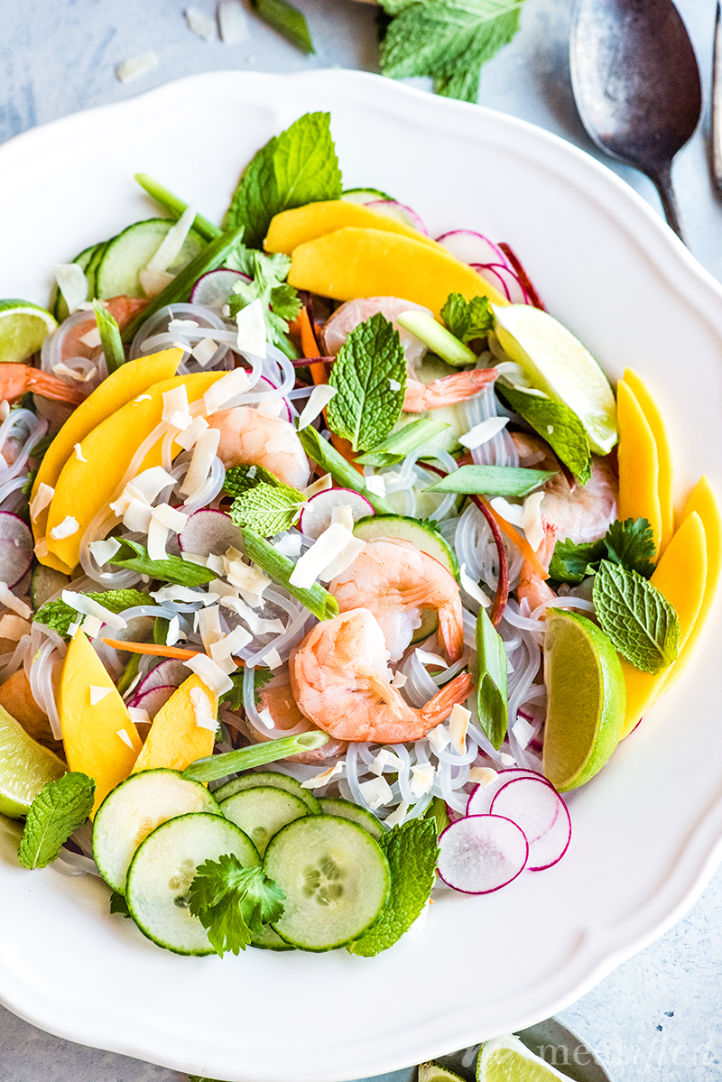 This light & bright spring roll salad from https://meatified.com takes all the hassle - no more time spent rolling! - out of the classic dish and keeps all the delicious fillings.